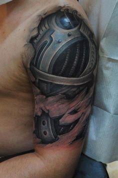 Cyborg, cyberpunk tattoo. Wouldn't get this but it's pretty legit