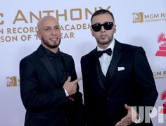 Raul 'Alexis' Ortiz and Joel 'Fido' Martinez attend the Latin Grammy Person of he Year gala in Las Vegas