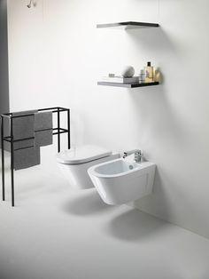 GSI ceramic | Norm, Wall-hung Wc & Bidet  #GSIceramica #BathroomDesign #Sanitaryware