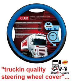 Steering Wheel Lorry Truck HGV blue black wheel cover medium wide grip… - Cars World Leather Seat Covers, Usb, Truck Wheels, Wheel Cover, Good Grips, Volvo, Trucks, Medium Online, Ebay