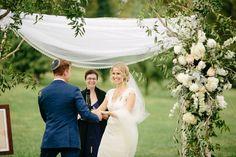 Romantic Outdoor Wedding. Nashville Wedding Photographers. Cedarwood Weddings. Chuppah. Wedding Flowers. www.bradandjen.com