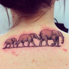#elephant #elephants #chain #followingtheleader #neck #back #tattoo