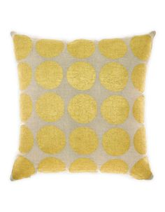 Aura Home Gold Spot Cushion, printed by hand by skilled artisans in India | Hudson's Bay