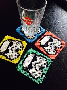 Untersetzer oder Dekoration Wand Stormtrooper X Hama Perlen. Sponsored Sponsored Coasters or decoration wall Stormtrooper X Hama beads. Perler Bead Designs, Hama Beads Design, Perler Bead Art, Diy Crafts To Do, Diy Craft Projects, Bead Crafts, Perle Hama Star Wars, Peler Beads, Iron Beads