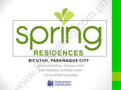 Spring Residences - SMDC - Bicutan