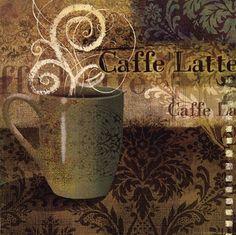 Cafe Latte Art Print by Vivian Eisner at Urban Loft Art