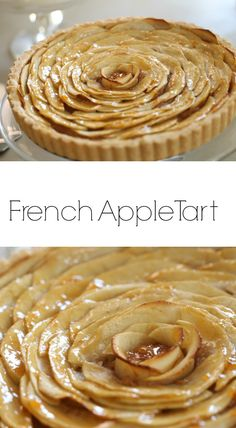 Beautiful and delicious Apple Tart Recipe! A great Thanksgiving Pie Recipe. Includes video tutorial.