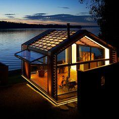 Individuelles Haus / modern / Glas / aus Metall GARAGE graypants