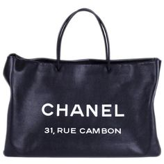 Chanel Bags Chanel Rue Cambon Tote (3 285 AUD) ❤ liked on Polyvore featuring bags, handbags, tote bags, accessories, fillers, purses, leather shopper tote, leather tote handbags, chanel tote and leather travel tote