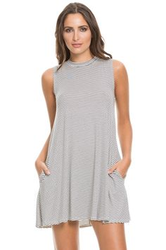 Striped Tunic - Navy/White – The Boutique Truck