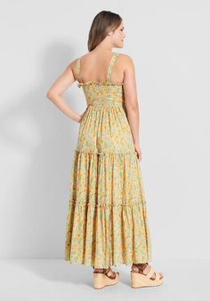 Spring Green, Modcloth, Bodice, How To Draw Hands, Floral Prints, Summer Dresses, Projects, How To Wear, Cotton