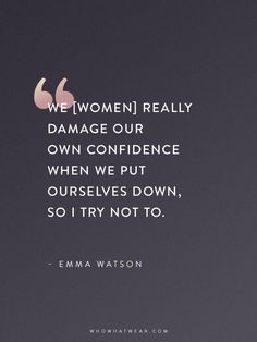 12 Emma Watson Quotes That Every Woman Should Read Diese Frau ist so inspirierend. Emma Watson Frases, Emma Watson Quotes, Emma Watson Feminism, Positive Quotes, Motivational Quotes, Inspirational Quotes, Amy Poehler, Favorite Quotes, Best Quotes