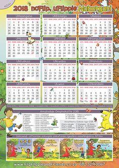 Flip Flippie and Friends isiZulu Calendar