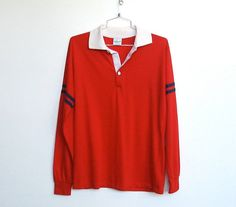 SOLD / Mens #Vintage 1970s Pro Action By Campus / Red Polo Shirt by VelouriaVintage, $20.00