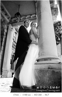 Wedding Couple Poses - Low angle