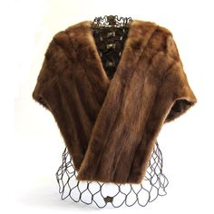 Vintage 50s Mink Stole with Medium Shawl Collar ($190) ❤ liked on Polyvore featuring accessories, scarves, mink scarves, vintage mink stole, mink stole, mink fur shawl and vintage scarves