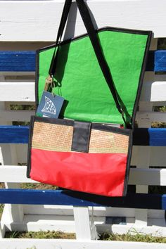 Shoulder strap #bag - #kevlar #sail and red dacron  // #madeinitaly #handmade #artigianale
