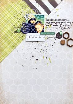 #papercraft #scrapbook #layout   everyday you by Maïna at @studio_calico