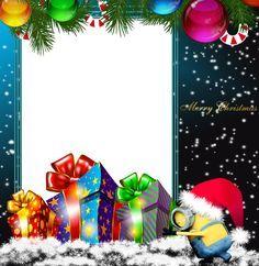 Merry Christmas PNG Minion Photo Frame
