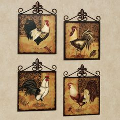 Beau Rooster Kitchen Metal Wall Art   A Lot Of People Dream Of Lying On A  Tropical Beach Lined With Palm Trees Ocean Waves Crash
