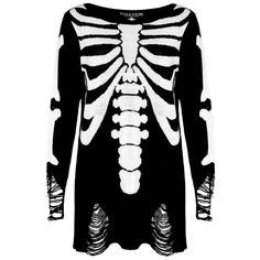 Killstar Gothic Ribcage Knitted Sweater