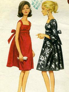 Vintage 60s Butterick 4235 CUT Misses Empire Waist by RomasMaison, $14.00