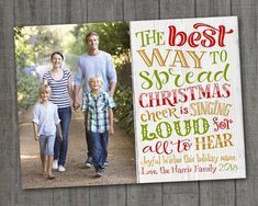 Family Photo Christmas Card Modern Christmas Photo Card, Family Photo Cards Digital PRINTABLE Christmas Family Photo Card Unique from PartyMonkey on Etsy Vintage Christmas Photos, Christmas Photo Cards, Modern Christmas, Holiday Photos, Family Christmas, Holiday Cards, Christmas Card Template, Christmas Printables, Printable Cards