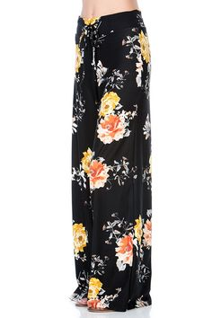HerShe Women Floral Print High Drawstring Waist Wide Leg Palazzo Pants Plus Size >>> Visit the image link more details. (This is an affiliate link) #PalazzoPants