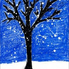 Paint a Winter Tree  - focus on the tree shape without having to worry about adding leaves!