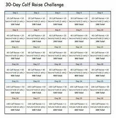 30 Day Calf Challenge