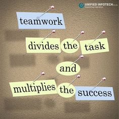 Individual commitment to a group effort – that's what makes a team work