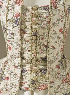 Robe à la française France, circa 1770. Detail.