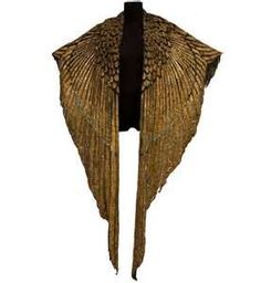 Cape Elizabeth Taylor Cleopatra Cape.Costume made with gold plated leather panels, beautiful!