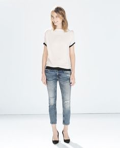 ZARA - COLLECTION AW14 - CIGARETTE JEANS