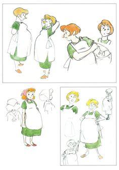 "A scan of artwork from ""The Art of Kiki's Delivery Service"" art book. Kiki Delivery, Kiki's Delivery Service, Totoro, Kids Cartoon Characters, Ghibli Movies, Hayao Miyazaki, Japanese Artists, Claude Monet, Animation Film"