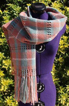 b1fe974668d5 Écharpe tissée, étole tartan, poncho plaid franges, cape de laine, écharpe  à rayures, châle rectangulaire, foulard fait main vert rose blanc