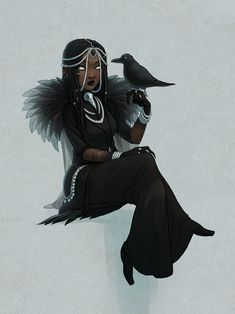 The Raven sighed in exasperation. My birds can climb better than you. Black Love Art, Black Girl Art, Art Girl, Black Anime Characters, Girls Characters, Female Characters, Witch Characters, Fantasy Character Design, Character Design Inspiration