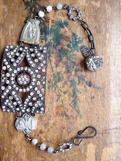 Circle Buckle Rosary Vintage Repurposed Bracelet.