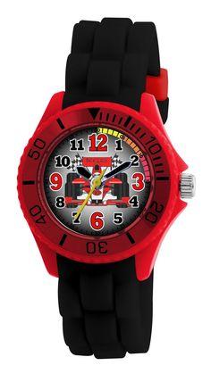 Een cool horloge met de afbeelding van een raceauto erop. Voor de snelheidsduivels onder ons een must.