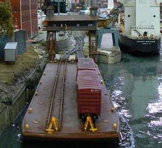 n scale train transport barge model - Google Search