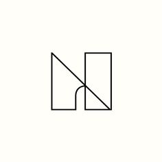NA Monogram by Richard Baird. (Available). #logo #design #branding