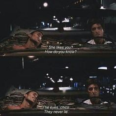 Top 100 scarface quotes photos the eyes chico, they never lie... #scarface #scarfacemovie #scarfacequotes #tonymontana #tonymontanaquotes #manolo #alpacino #alpacinoquotes #theworldisyours #america #cuba #columbia #gagnster #bestmovies #bestquotes #bestactors See more http://wumann.com/top-100-scarface-quotes-photos/