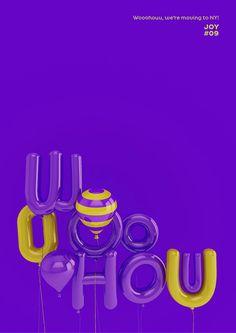 3D Typographic Posters by Alen Lipuš