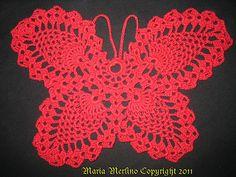 Ravelry: Crochet Pineapple Butterfly pattern by Maria Merlino