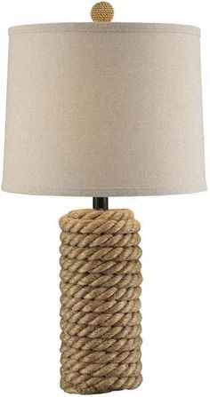 Crestview Collection CVNAM695 Rope Bolt Table Lamp 12 X 13 X 10
