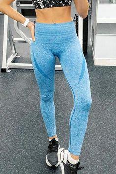 Seamless Long Sleeve T Shirt Leggings Set – myslady Activewear Sets, Sport Wear, Sport Fashion, Purple And Black, Colorful Leggings, What To Wear, Active Wear, Sweatpants, Long Sleeve