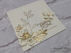The Craft Spa - Stampin' Up! UK independent demonstrator : Gold & Vanilla Botanical Blooms Two Ways