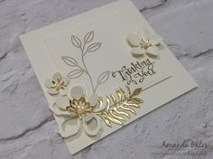 The Craft Spa - Stampin' Up! UK independent demonstrator : Gold & Vanilla Botanical Blooms Two Ways
