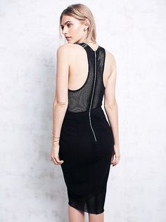 Noir bodycon dress