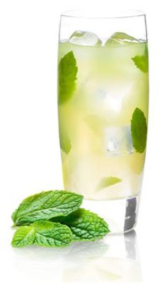 5 Cocktails under 100 calories by TY KU: Superfruit Mojito, Spa Day, Tokyo Tea, Asian Sangria, and Ginger Crush.